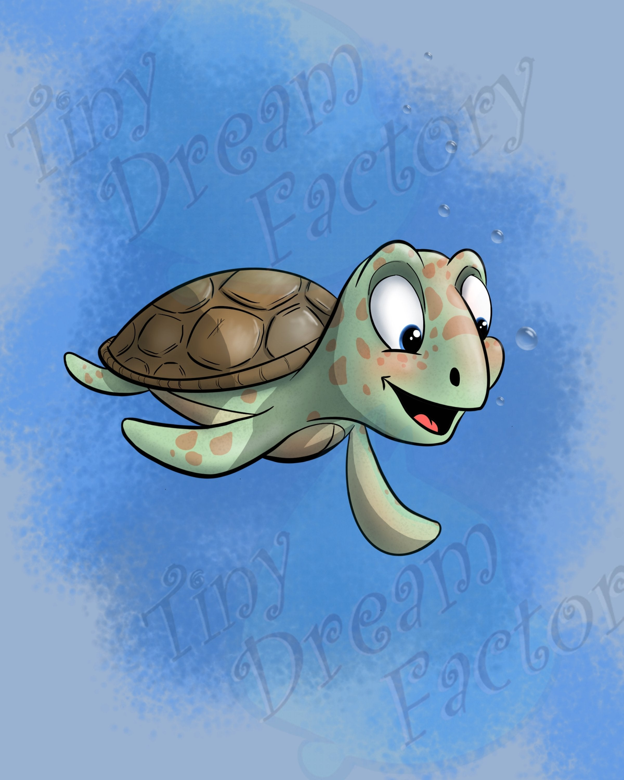 Aquatic - Sea Turtle (Framed) - Tiny Dream Factory
