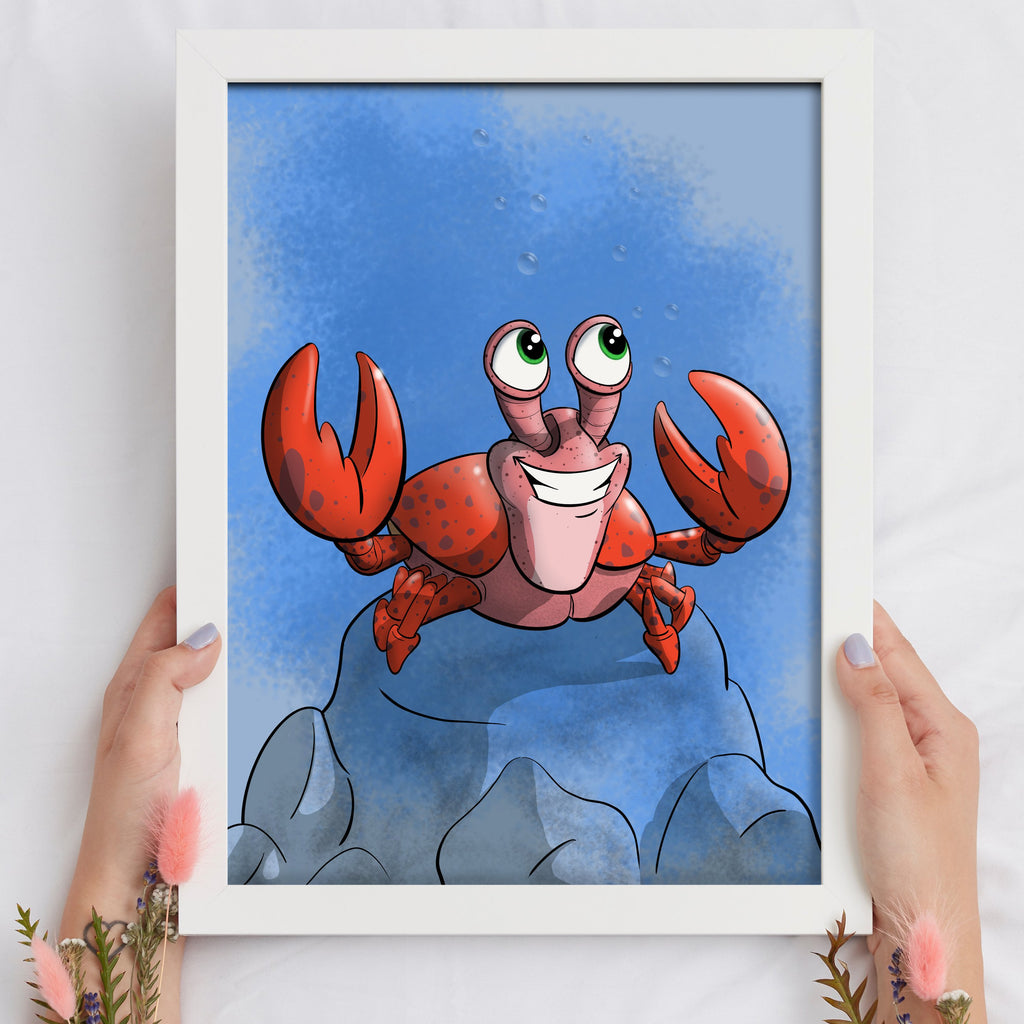 Aquatic - Crab (Framed) - Tiny Dream Factory
