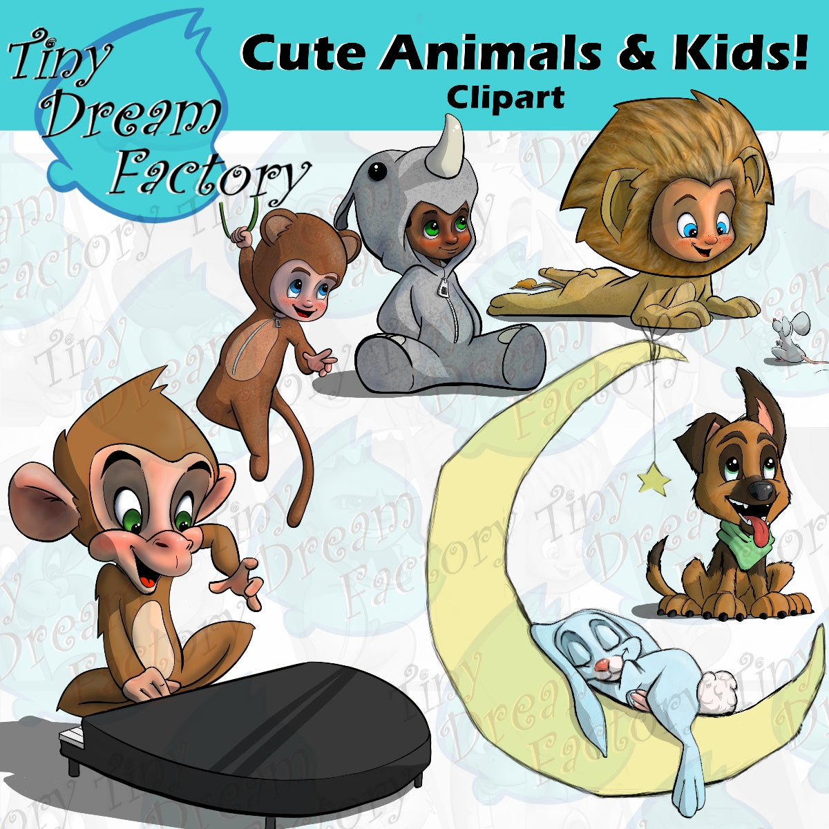 Cute Animals & Kids Clipart!