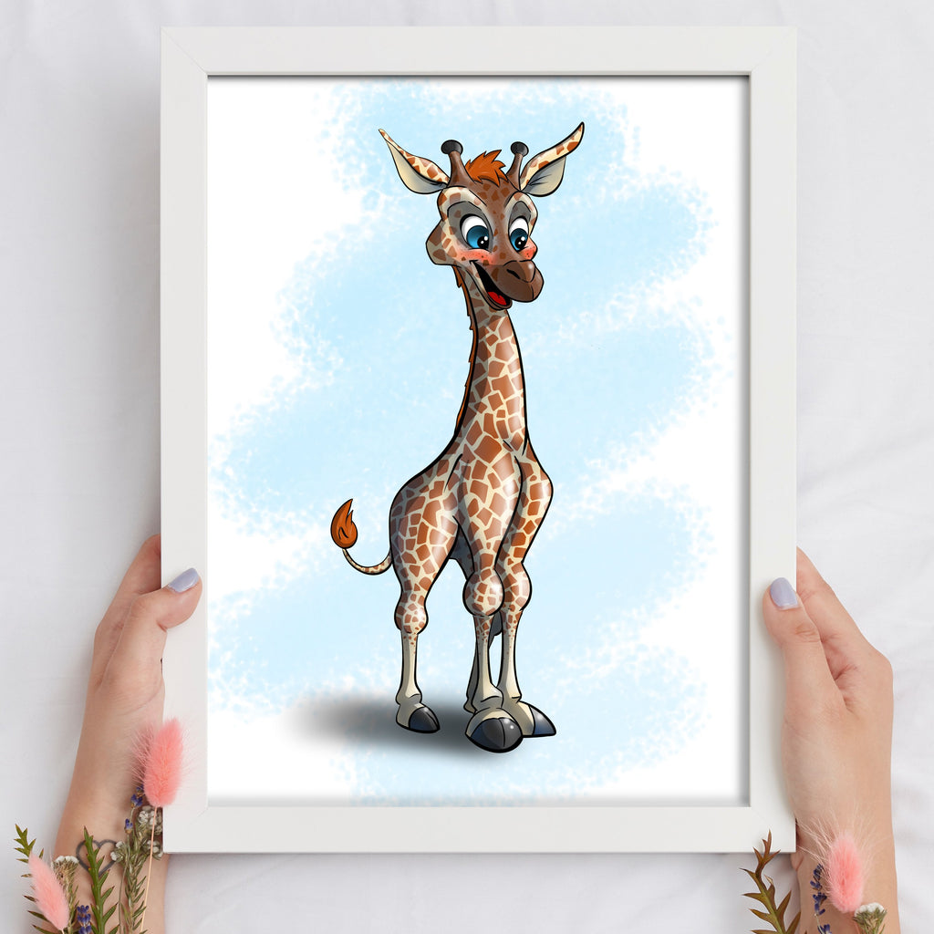 Animal Safari - Giraffe (Framed) - Tiny Dream Factory