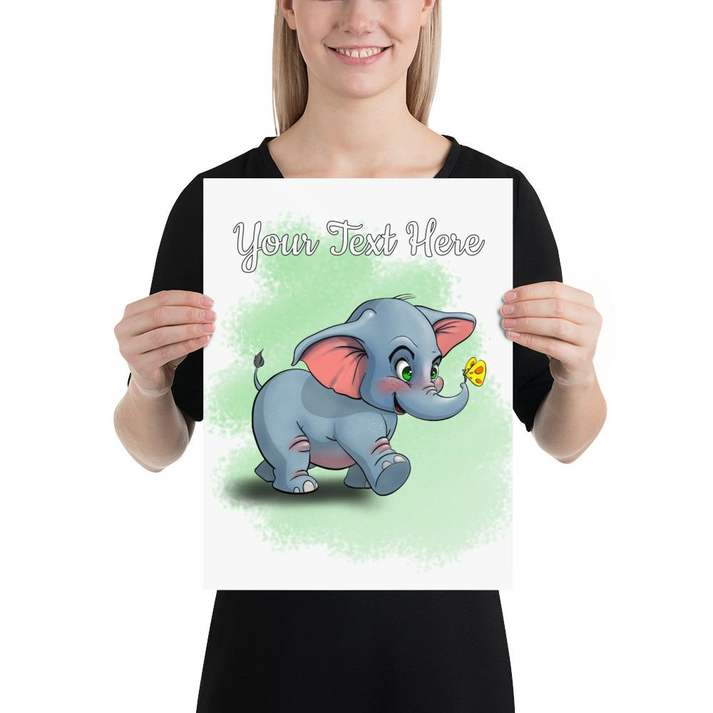 Safari Elephant - (Custom Prints) - Tiny Dream Factory