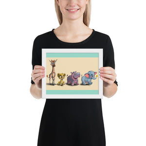 Open image in slideshow, Animal Safari Collection- (Framed) - Tiny Dream Factory