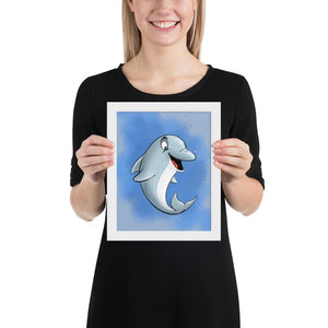 Open image in slideshow, Aquatic - Dolphin (Framed) - Tiny Dream Factory