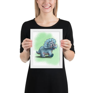 Open image in slideshow, Dino - Triceratops (Framed) - Tiny Dream Factory