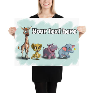Open image in slideshow, Animal Safari Collection (Custom Print) - Tiny Dream Factory