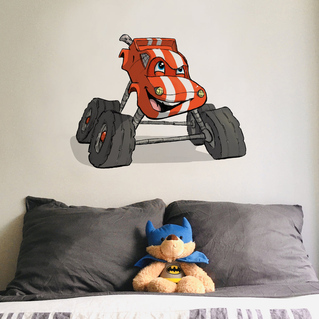 Adorable Trucks - Monster Truck - Wall Decal - Tiny Dream Factory