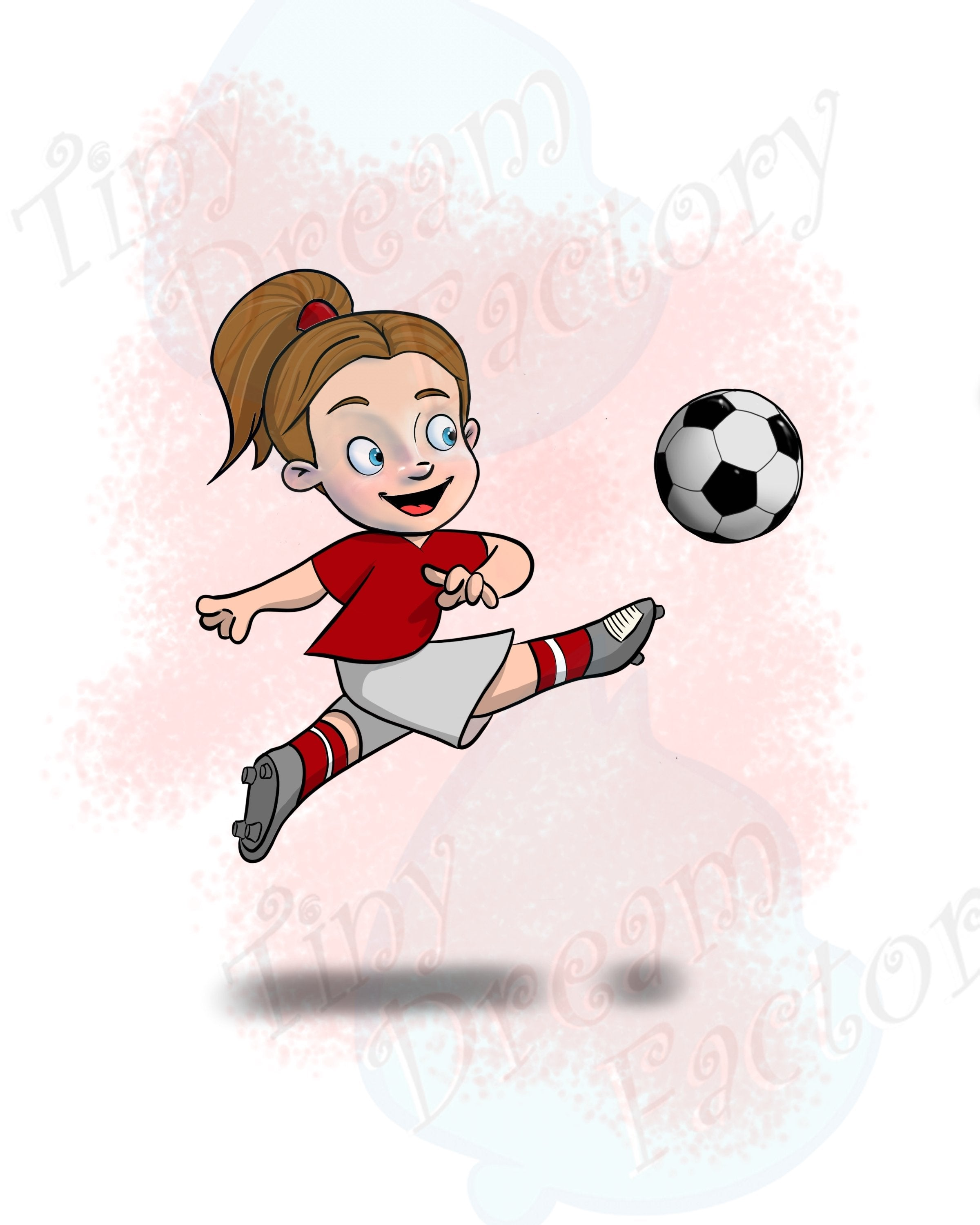 Soccer Player - Girl - Tiny Dream Factory