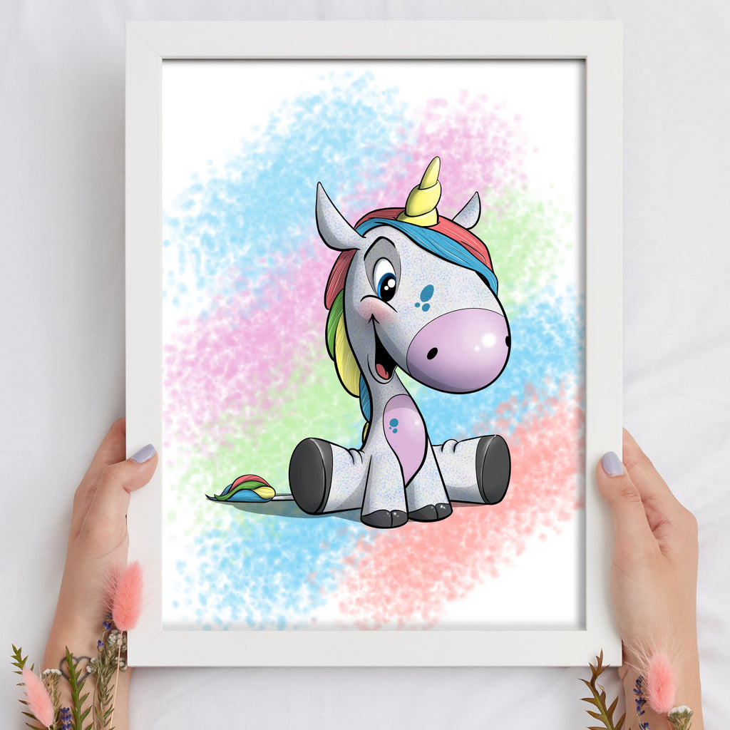 A Fairy Tale - Unicorn (Framed) - Tiny Dream Factory