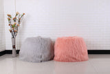 POUF FOURRURE <br> FLUFFY ROSE