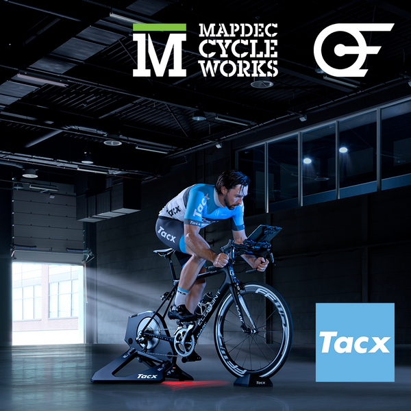 A Mapdec Studio Full of the Tacx Neo Smart Turbo Trainer