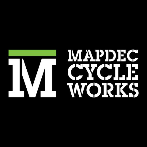 Mapdec Cycle Works Black Logo