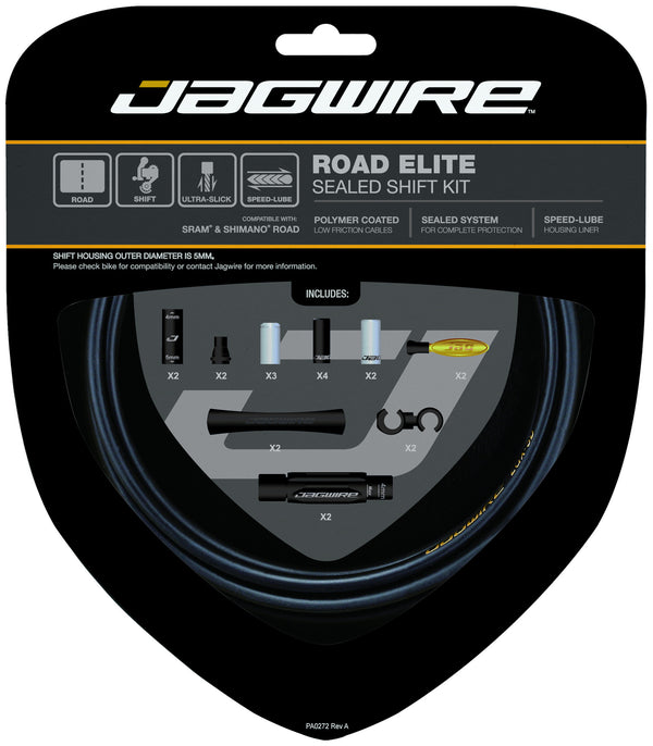 Jagwire - Road Elite Sealed Shift Cable Kit - SRAM/Shimano Road - Mapdec Cycle Works