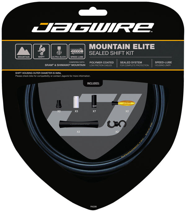 Jagwire - Mountain Elite Sealed Shift Cable Kit - SRAM/Shimano Mountain - Mapdec Cycle Works