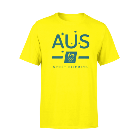AOC Sports Climbing Kids Yellow Supporter Tee