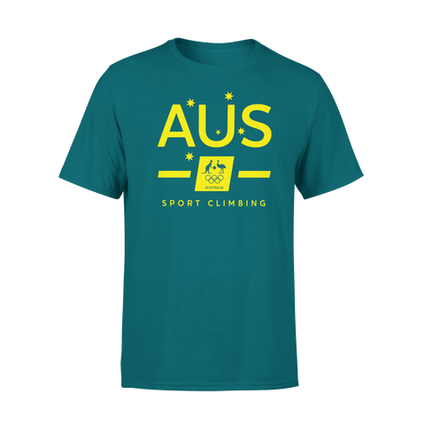 AOC Sports Climbing Adults Green Supporter Tee