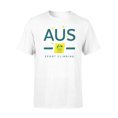 AOC Sports Climbing Adults White Supporter Tee