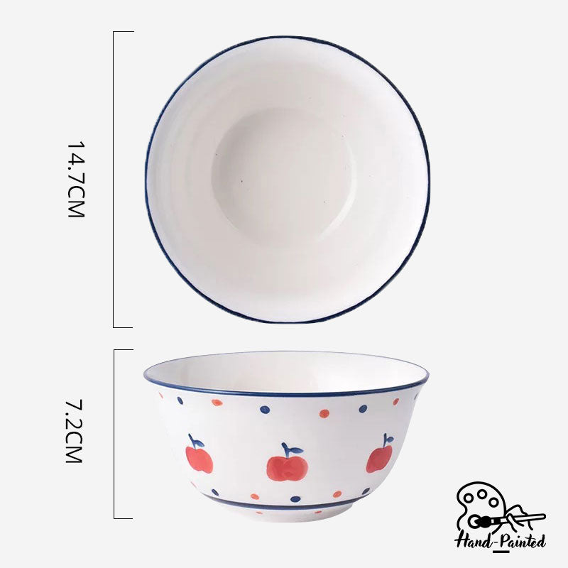 Apple Harvest - Hand Painted 6 inch Soup Bowl