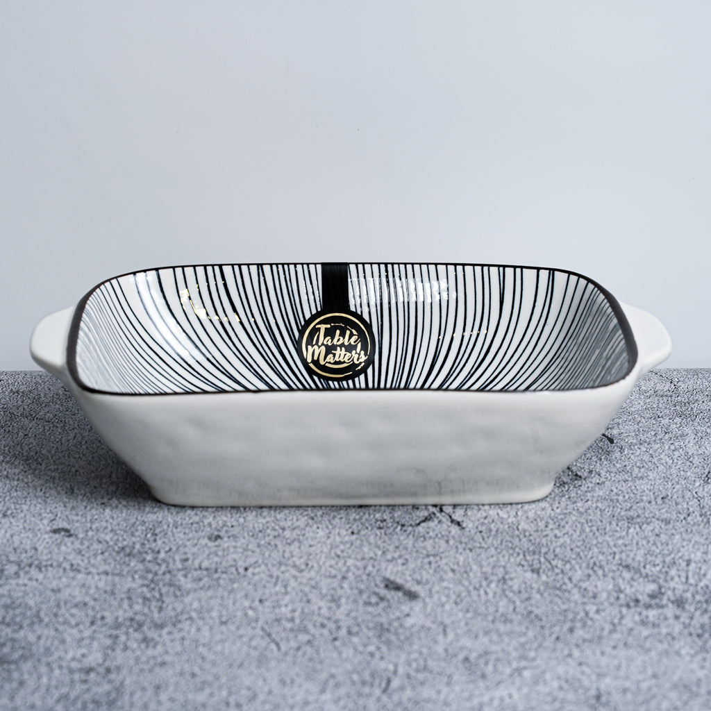 Blue Illusion - 8.5 inch Baking Dish with Handles - Table Matters