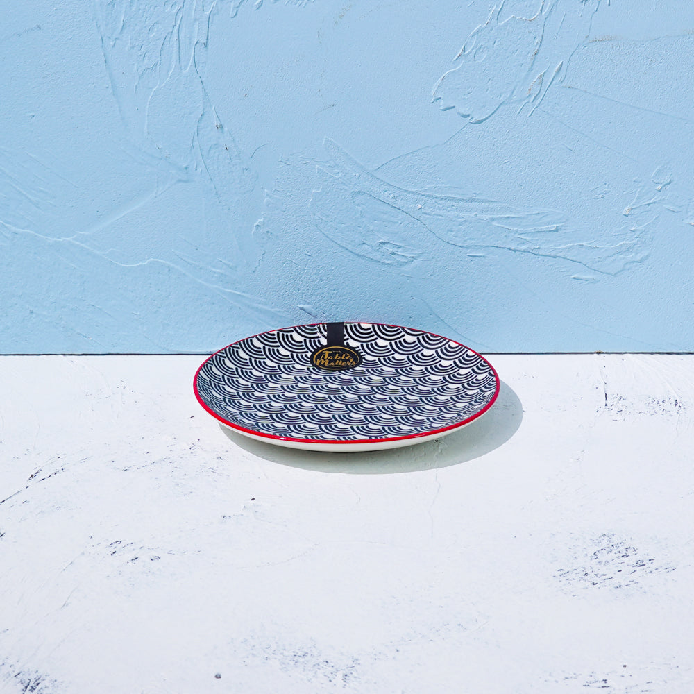Blue Wave - 6 inch Dessert Plate / 8 inch Rice Plate / 10.5 inch Dinner Plate - Table Matters