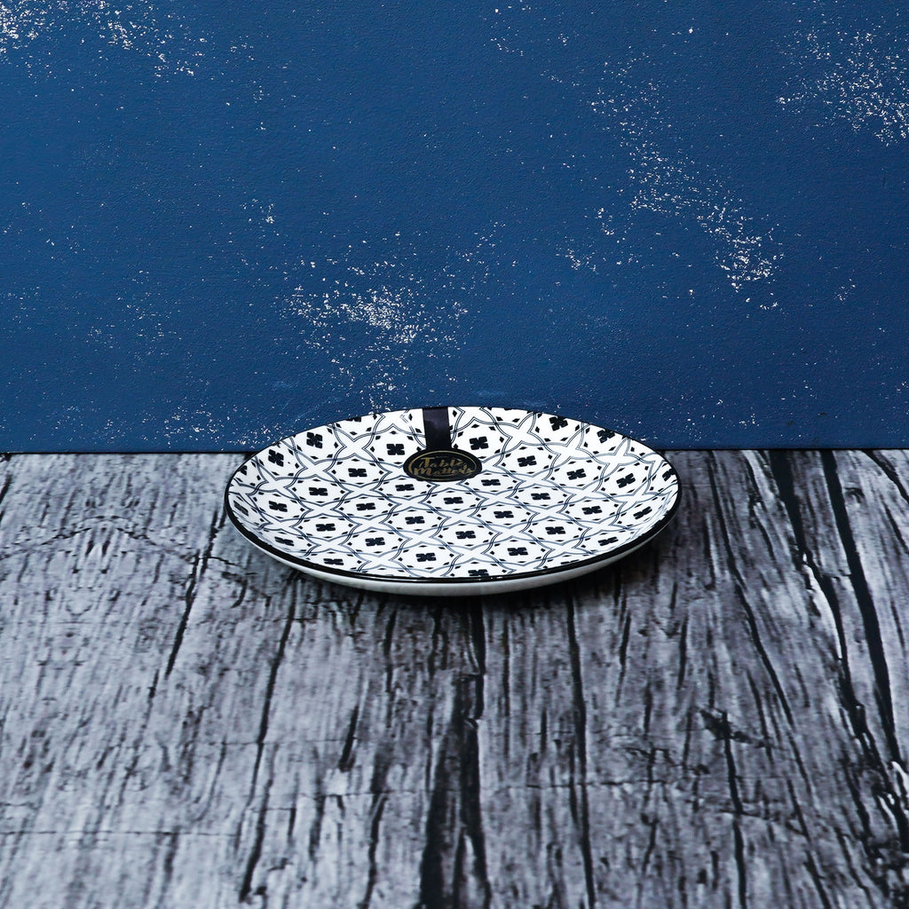 Crisscross Blue - 6 inch Dessert Plate / 8 inch Rice Plate / 10.5 inch Dinner Plate - Table Matters