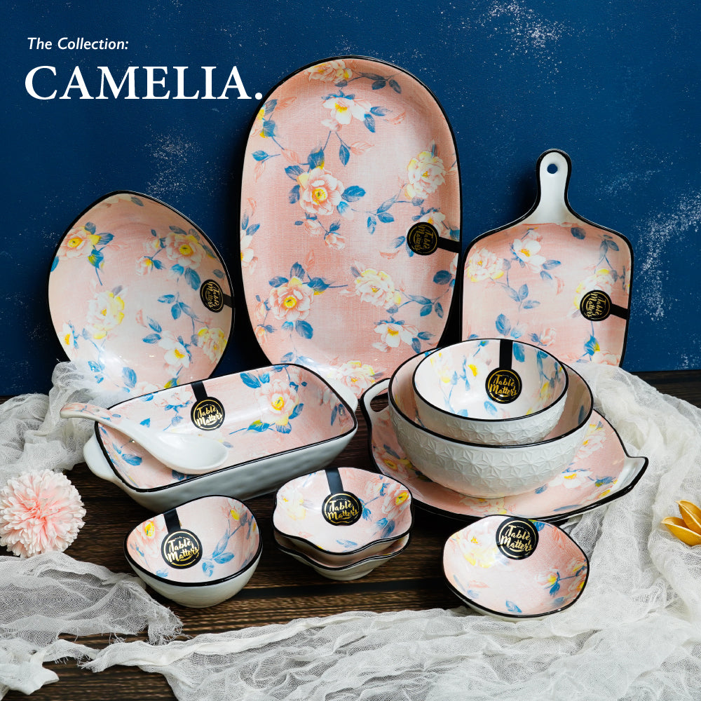 Camellia - 8 inch Coupe Plate