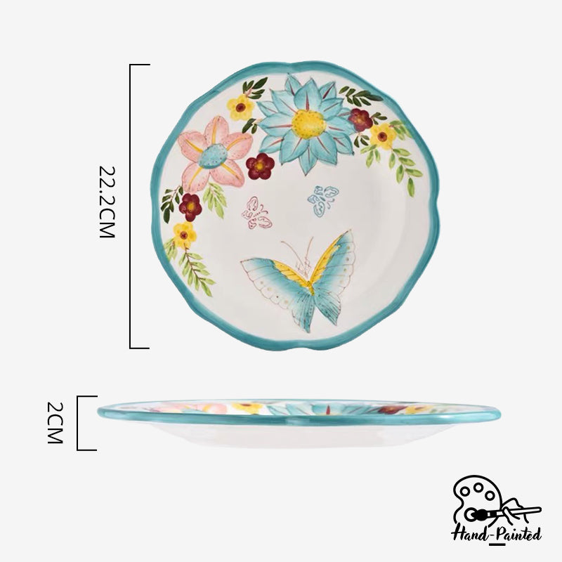 Dawnlight Garden - Hand Painted 8.5 inch Rice Plate