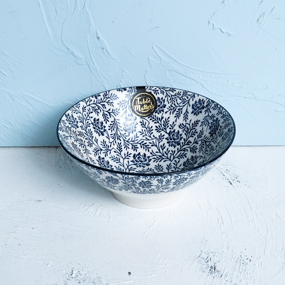 Floral Blue - Ramen Bowl - Table Matters