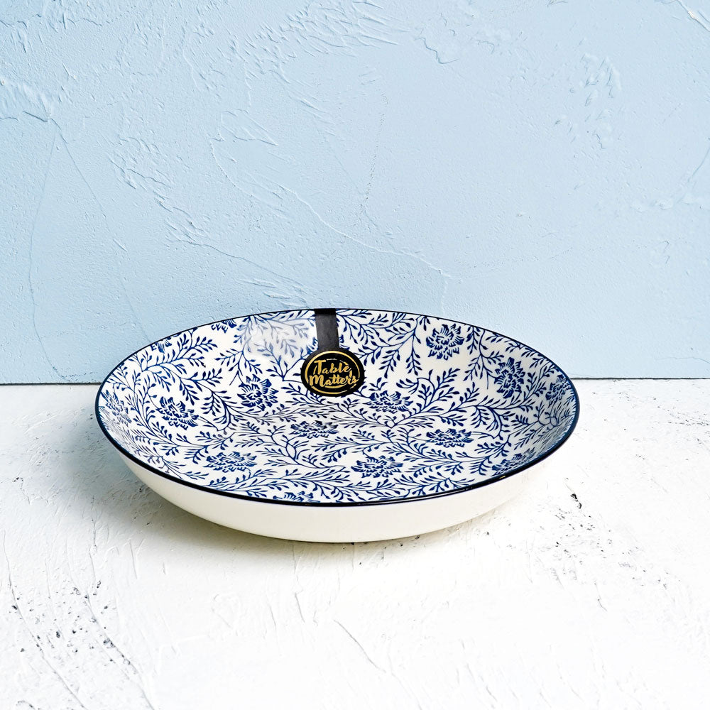 Floral Blue - 8 inch Coupe Plate