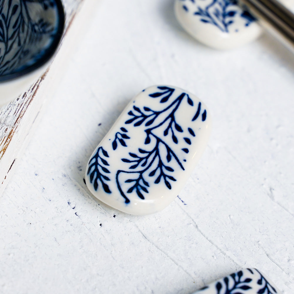Floral Blue - Chopstick Rest