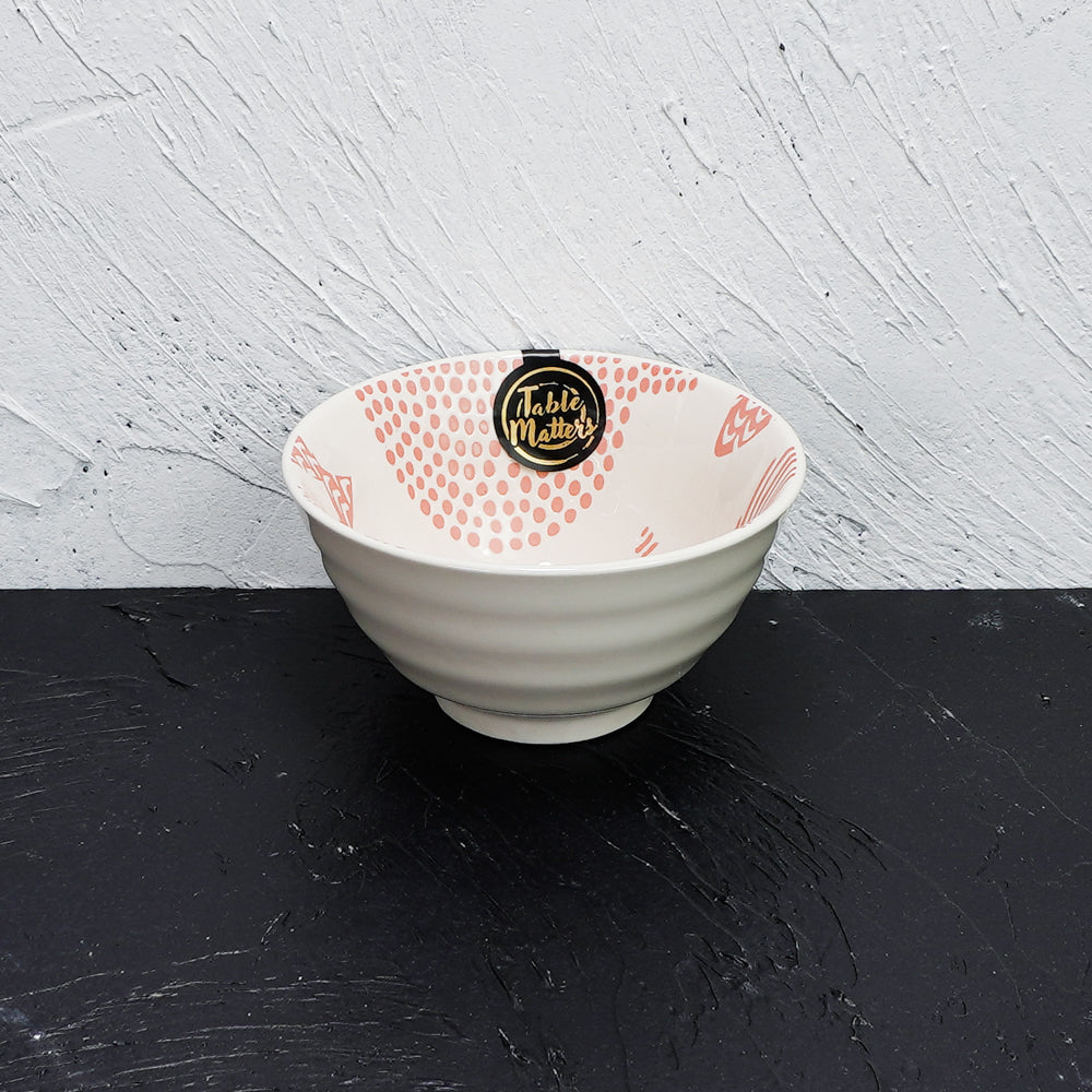 Fishes Pink - Hand Painted 5 inch Threaded Bowl - Table Matters