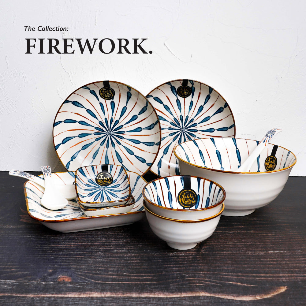 Firework - 9.2 inch Round Plate with Handles