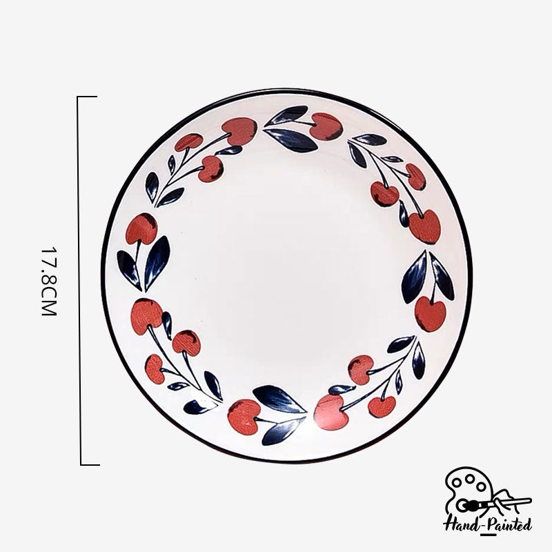 Holiday Berry - Hand Painted 7 inch Dessert Plate
