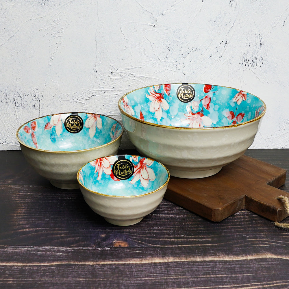 Magnolia - 4.5 inch Rice Bowl / 6 inch Soup Bowl / 8 inch Big Serving Bowl
