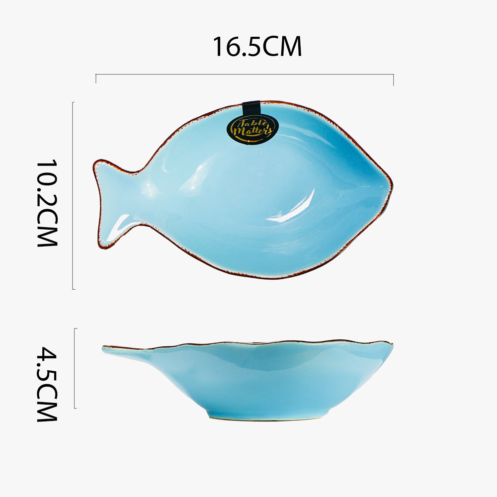 Nautical Blue - 6 inch Fish Soup Bowl