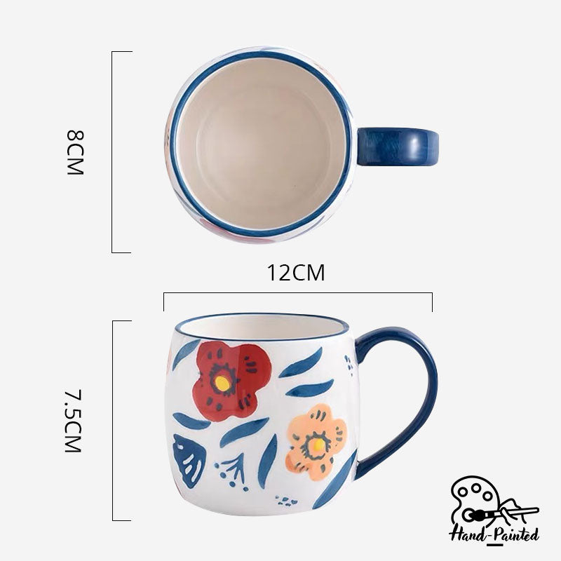 Poppy Blossom - Hand Painted 280ml Mug - Table Matters