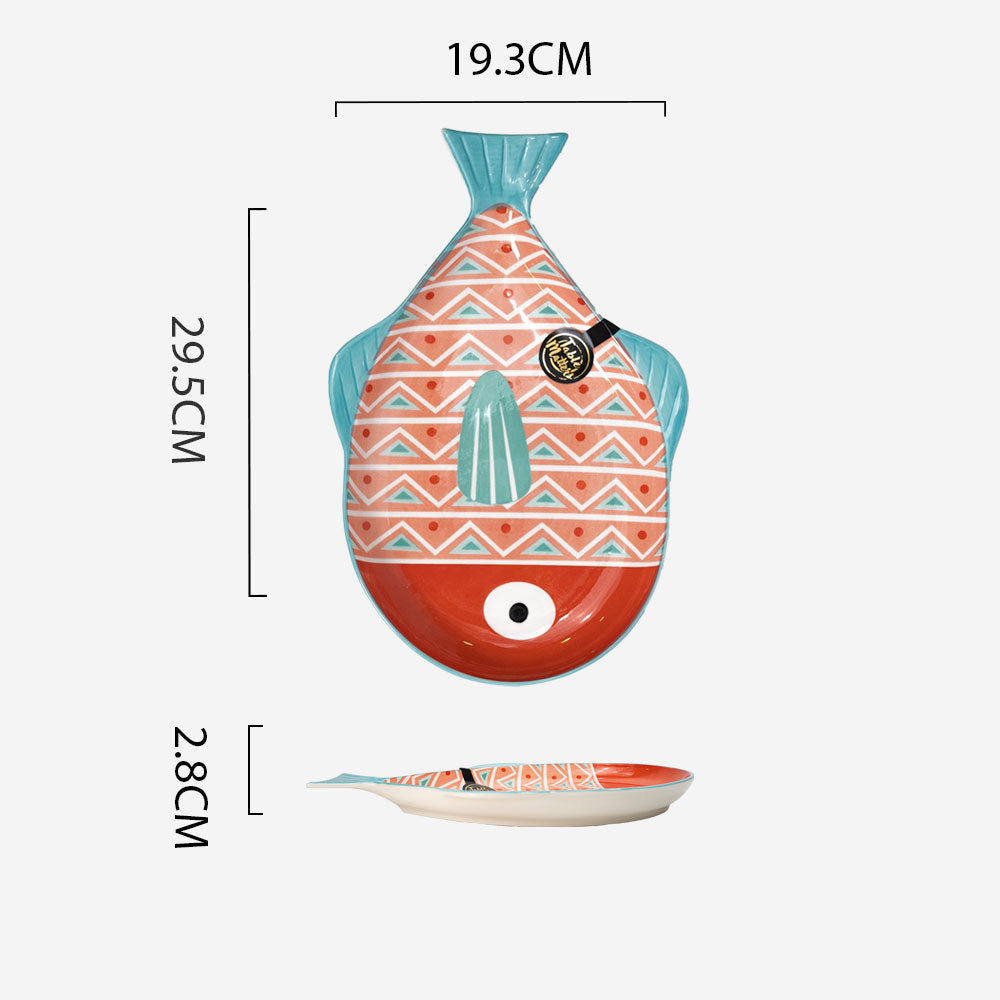 Pufferfish Pink - 11.5 inch Plate