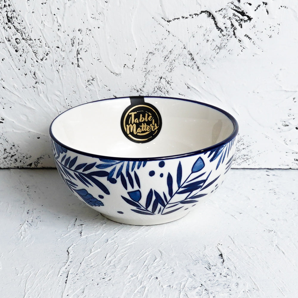 Rosemary Blue - Hand Painted 5 inch Rice Bowl