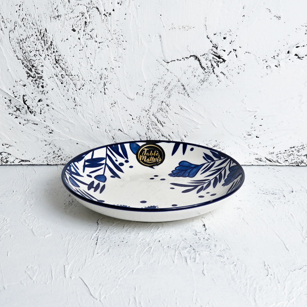 Rosemary Blue - Hand Painted 7 inch Dessert Plate - Table Matters