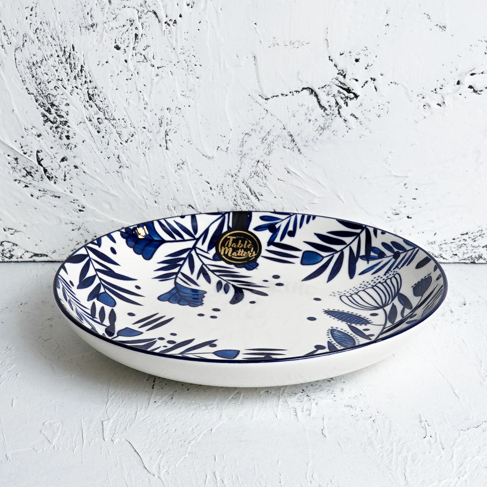 Rosemary Blue - Hand Painted 9 inch Coupe Plate - Table Matters