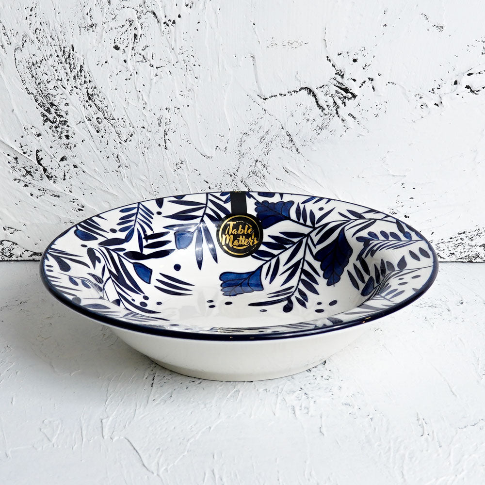 Rosemary Blue - Hand Painted 9 inch Pasta Plate - Table Matters