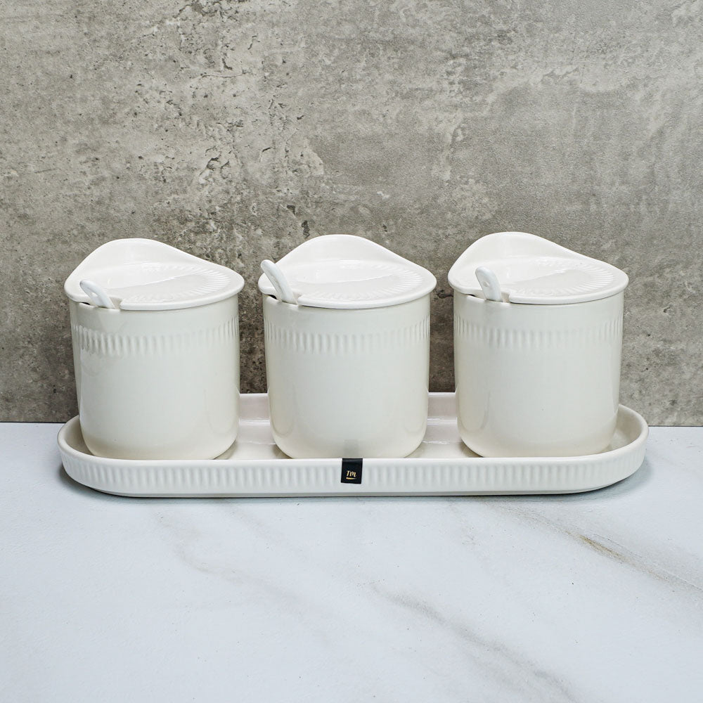 Royal White - Condiment Jar