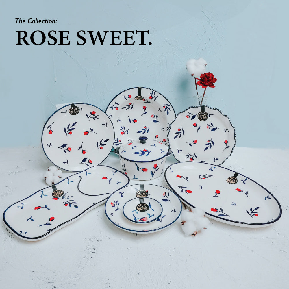 Rose Sweet - Hand Painted 3.5 inch Round Saucer
