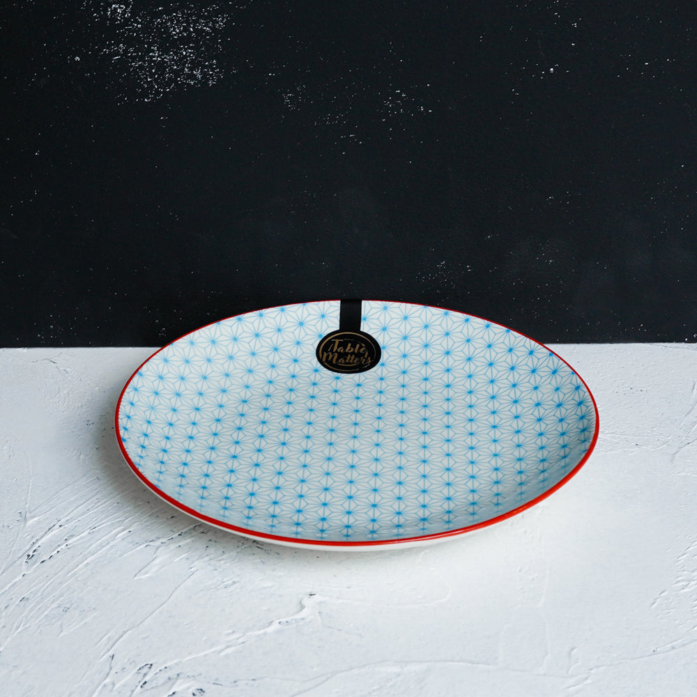 Starry Blue  - 6 inch Dessert Plate / 8 inch Rice Plate / 10.5 inch Dinner Plate - Table Matters