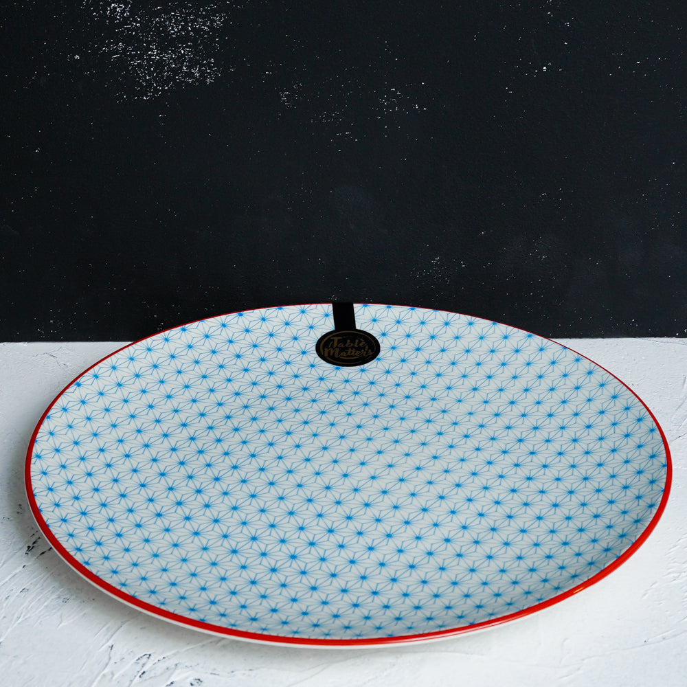 Starry Blue  - 6 inch Dessert Plate / 8 inch Rice Plate / 10.5 inch Dinner Plate