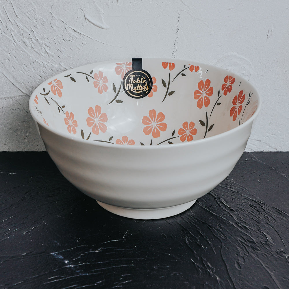 Sakura Pink - Hand Painted 8 inch Threaded Bowl - Table Matters