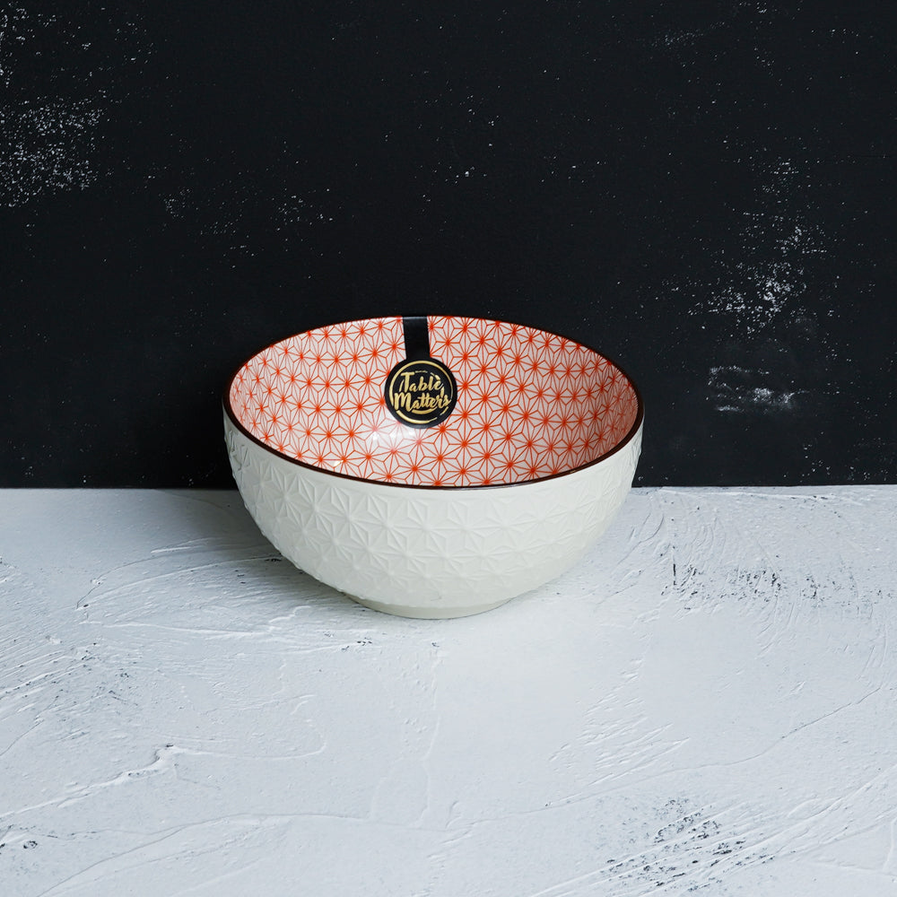 Starry Red - 4.5 inch Rice Bowl / 6 inch Soup Bowl / 8 inch Big Serving Bowl