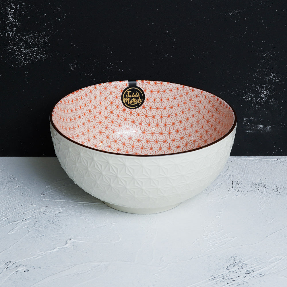 Starry Red - 4.5 inch Rice Bowl / 6 inch Soup Bowl / 8 inch Big Serving Bowl - Table Matters