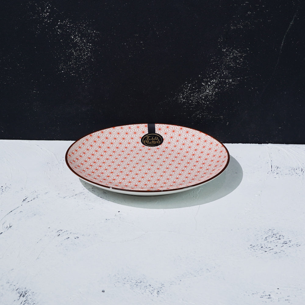 Starry Red - 6 inch Dessert Plate / 8 inch Rice Plate / 10.5 inch Dinner Plate - Table Matters