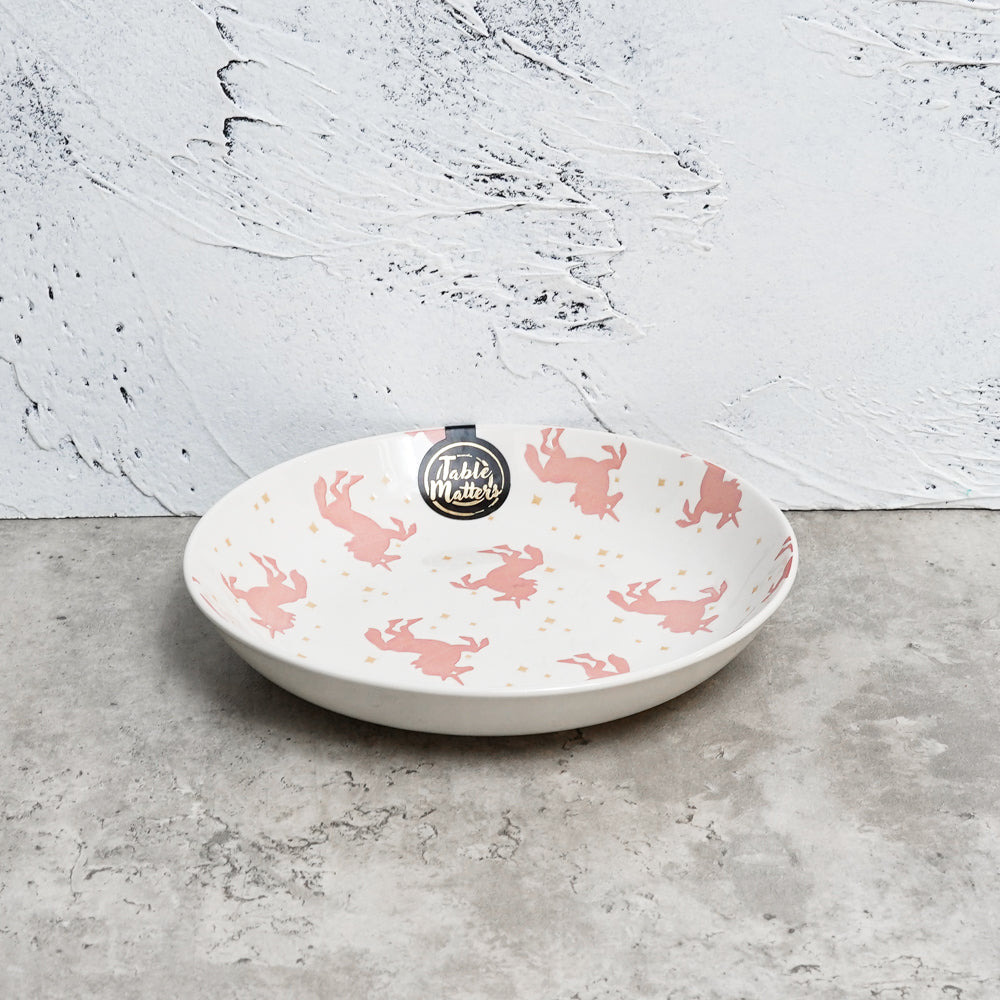 Unicorn Pink - Hand Painted 7 inch Coupe Plate - Table Matters
