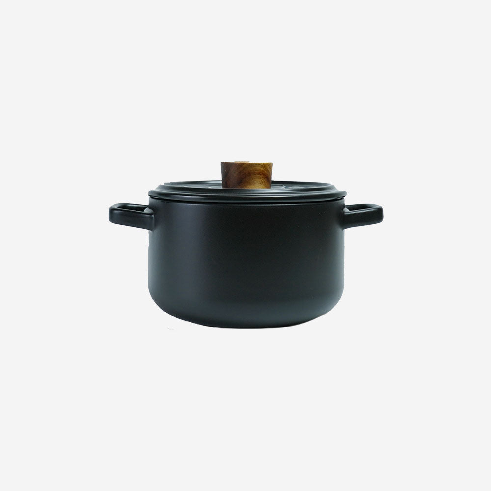 Vintage 2.6L Ceramic Cook Pot (Pastel Black)
